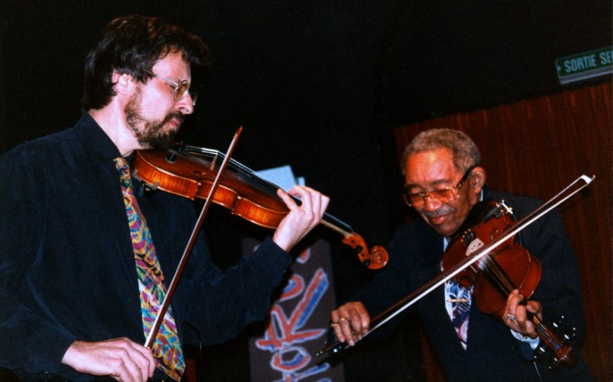 John Intrator and the legendary violonist Claude Williams